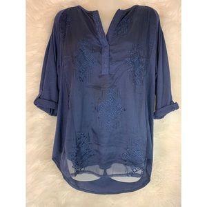 RXB Layered Embellished Tunic 3\4 Sleeves